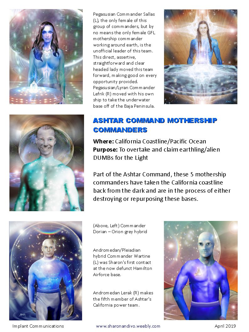 Ashtar Commanders - IMPLANT COMMUNICATIONS, CHANNELING IVO OF VEGA